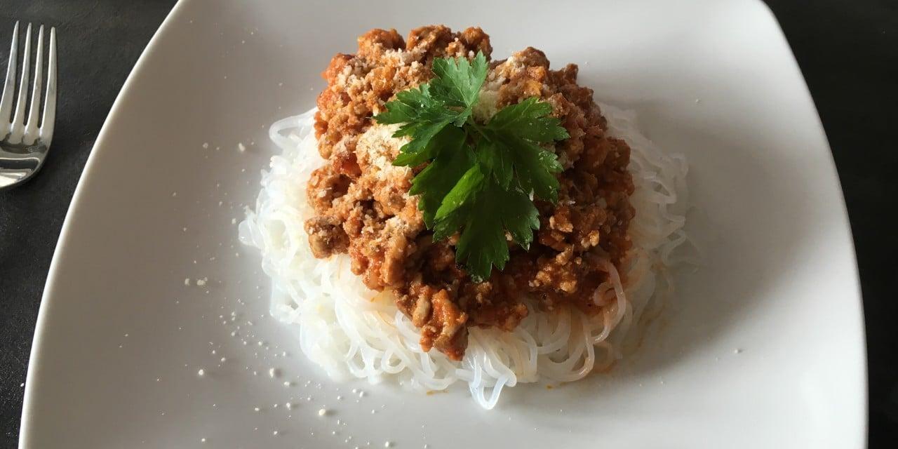 Spaghetti bolognese z konjac