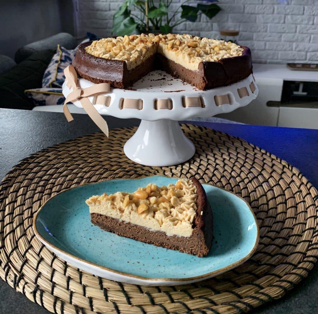 Brownie z mas艂em orzechowym