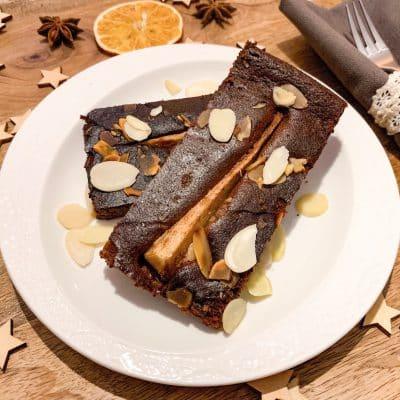 Korzenne ciasto z gruszkami 4